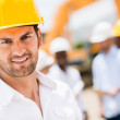 Civil engineer at a construction site — Stockfoto