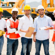 Architects at a building site — Stock Photo