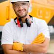 Stock Photo: Worker at construction site