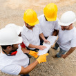 Group of construction workers — Foto Stock