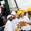Group of engineers on a construction — Stock Photo