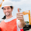 Contractor with thumbs up — Stock Photo