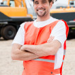 Worker at a building site — Stock Photo #29880651