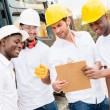 Stock Photo: Men working on a construction site