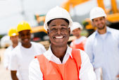 Engineer at a building site — Stock Photo