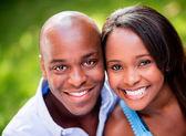 Gülümseyen güzel çift — Stok fotoğraf
