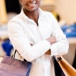 Happy shopping man — Stock Photo