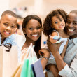 Happy family shopping — Foto Stock