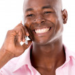 Happy man on the phone — Stockfoto