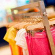 Stock Photo: Kids clothes at a store