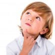 Thoughtful little boy — Stock Photo
