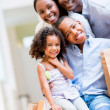 African American shopping family — Stock Photo