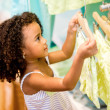 Stock Photo: Young female shopper