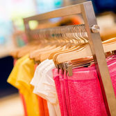 Kids clothes at a store — Foto de Stock