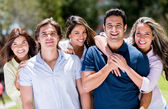 Happy group of people — Stock Photo