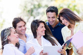 Group of college friends — Stock Photo