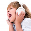 Stock Photo: Boy listening to music