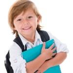 criança feliz indo para a escola — Foto Stock