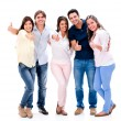 Happy group with thumbs up — Stock Photo