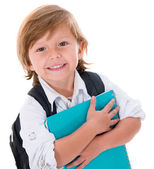 Happy kid going to school — Stock Photo