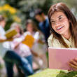 Female student outdoors — Stock Photo
