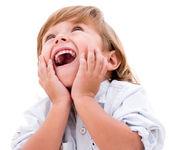 Surprised little boy — Stock Photo