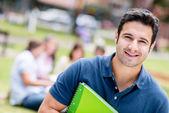Happy male student — Stock Photo