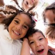 Happy group of kids — Stockfoto