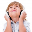 Cute boy with headphones — Stock Photo