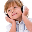 Boy with headphones — Stockfoto