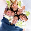 Happy circle of friends — Stock Photo