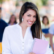 Female student smiling — Stock Photo #30394413