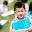 Happy boy at the school — Stock Photo
