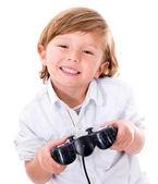 Boy playing videogames — Stock Photo