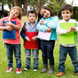 Happy group of school kids — Stock Photo #30449137