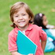 Stock Photo: Very happy boy at school