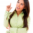 Woman pointing an idea — Stock Photo