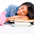Stock Photo: Girl saving for collage