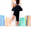 Unrecognizable shopping woman — Stock Photo