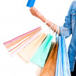 Shopping with a credit card — Foto Stock