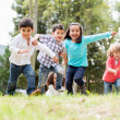 Stock Photo: Happy kids playing