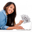 Saving money online — Stockfoto
