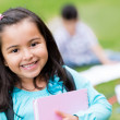 Happy girl at school — Stock Photo