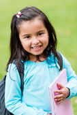 Happy primary school student — Stock Photo