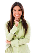 Happy woman smiling — Stock Photo