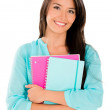 Happy female student — Foto de Stock