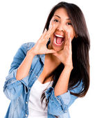 Woman screaming — Stock Photo
