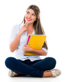 Pensive female student — Stock Photo