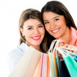 Happy shopping women — Stock Photo