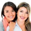 Beautiful sisters smiling — Stock Photo